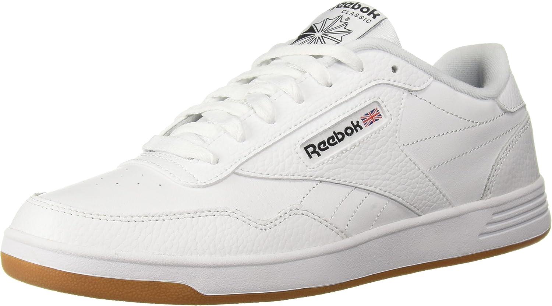 Reebok Men's Club MEMT Walking shoes White Black Gum, 6 M US