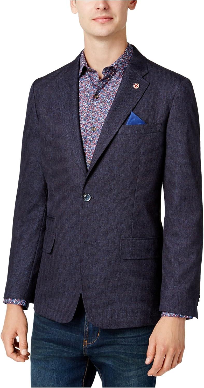 Ben Sherman Men's Two Button Slim Fit Mini Check Sportcoat