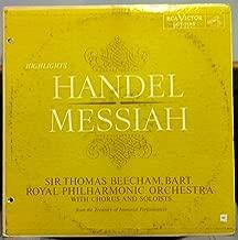 SIR THOMAS BEECHAM BART HANDEL MESSIAH vinyl record