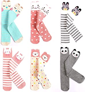 Kids Cotton Socks Knee High Stockings Cute Cartoon Animals for 3-8 Year Olds