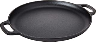 Home-Complete Cast Iron Pizza Pan-14 Skillet for Cooking, Baking, Grilling-Durable, Long Lasting, Even-Heating and Versati...