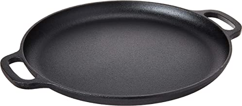 "Home-Complete Cast Iron Pizza Pan-14"" Skillet for Cooking, Baking, Grilling-Durable,.."