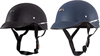 Habsolite All Purpose Safety Helmet with Strap (Black, Free Size) & All Purpose Safety Helmet with Strap (Blue, Free Size) Combo