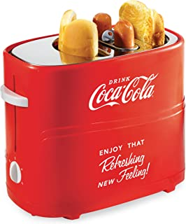 Nostalgia HDT600COKE Coca-Cola Pop-Up 2 Hot Dog and Bun Toaster, With Mini Tongs, Works..