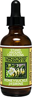 Stand Around Creations Premium Concentrated Fragrance Oil - Scent - Honeysuckle/Jasmine :A Strong Floral Bouquet w/hints of pear. Natural Essential Oils (2 fl. oz.)