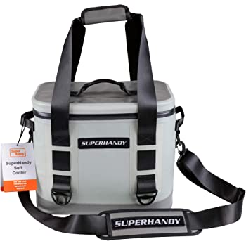 SuperHandy Soft Cooler Bag Portable 4.4Gal 16.6L 30 Can Hydro-Zip Cold Cell Insulated Leak & Waterproof High Ice Retention Commercial Grade Food Safe UV Protected Hiking, Sports & Beaches