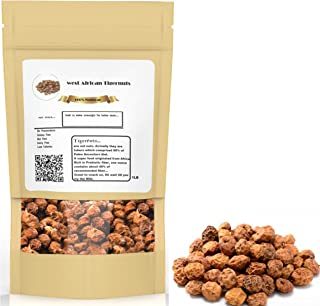 West African Tiger Nuts, Perfect for Tigernut Milk Flour and for Keto Diet 1 and 2 Lbs Sun Dried (Pack of 1 (1 Lbs))