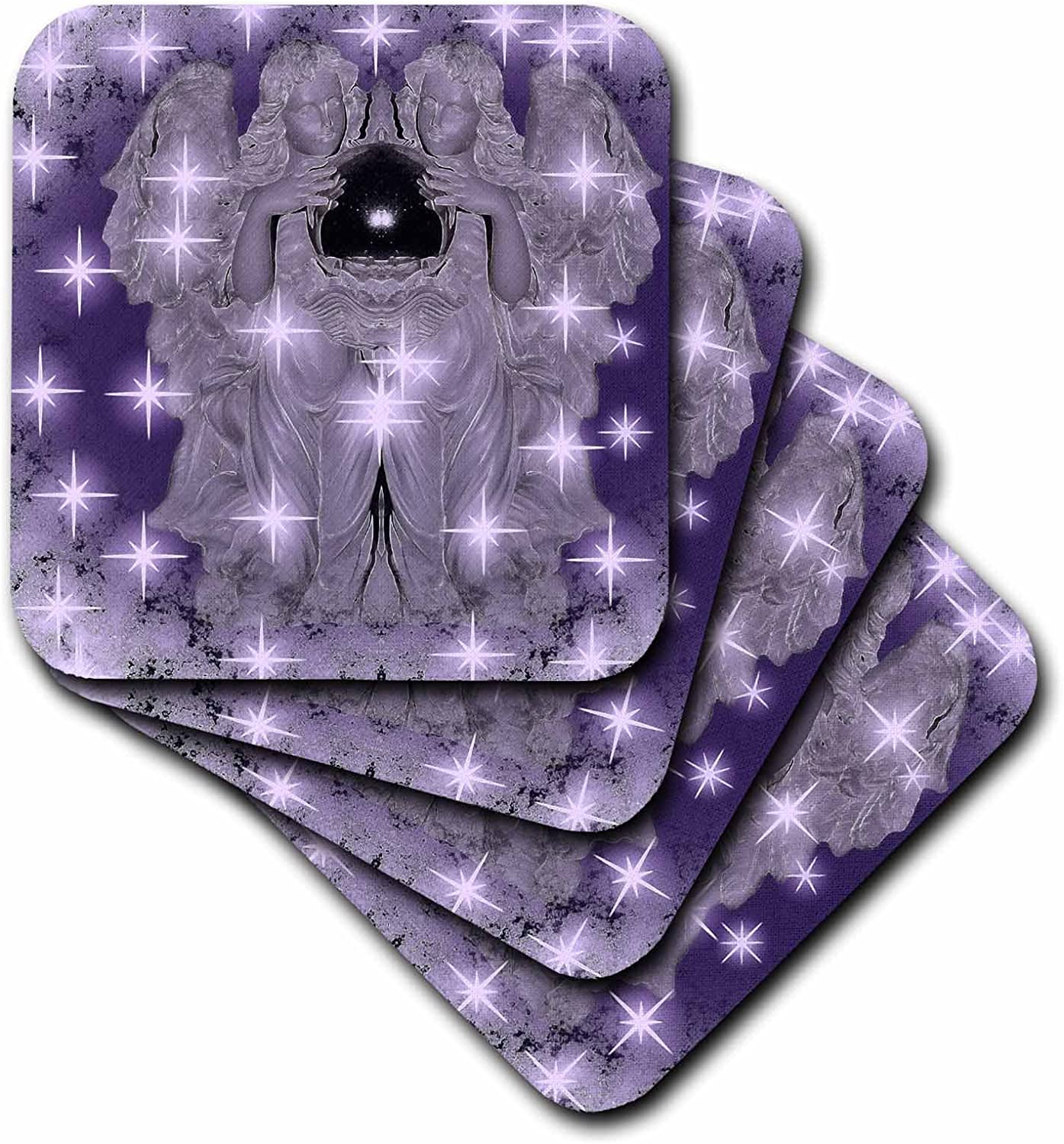 3dRose Ranking TOP19 CST_77143_4 Lavender Angels Ti Kansas City Mall Stars-Ceramic with Twinkle