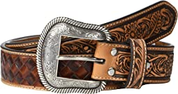 Nocona Basketweave Embossed Inlay Belt