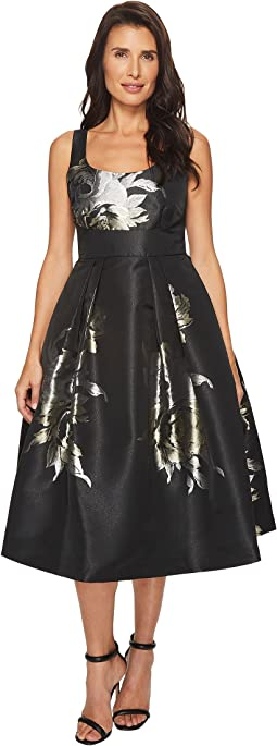 Ivanka Trump - Social Floral Midi Full Skirt Dress