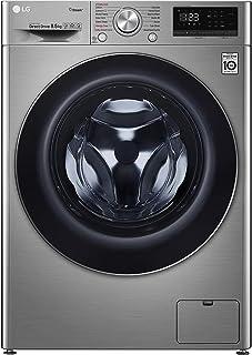 LG 8.5 Kg 1200 RPM Front Load Washing Machine, Silver - F2V5GYP2T