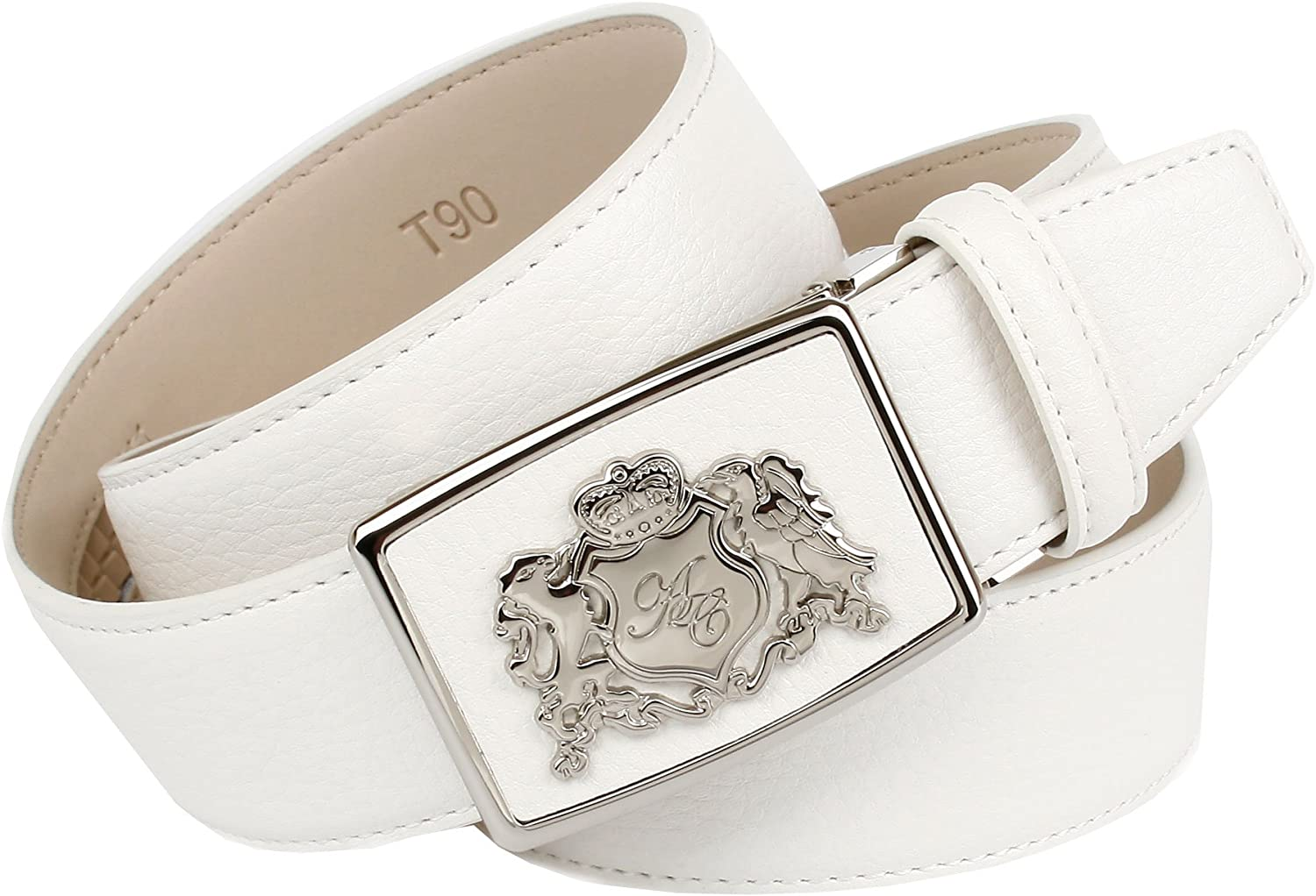 Anthoni Crown women`s belt white Width Industry No. 1 New popularity leather 6