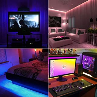 LED Strips Lights, 2.0M/6.56ft USB TV Backlights with 16 Colors and 4 Modes for 40-60 inch HDTV/PC Monitor, SMD 5050 Bias Lighting with 17-Key Remote Control (4X0.5M)