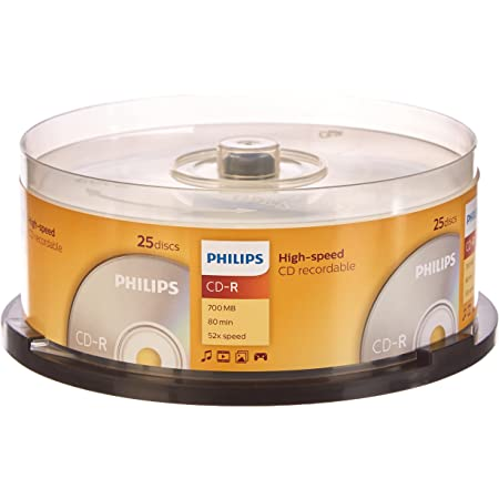 Philips CD-R CR7D5NB25/00 - CD-R vírgenes, 700 MB, 80 min, 52x, pack de 25