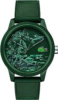 ساعة بسوار من السيليكون ومينا اخضر 12.12 للرجال من لاكوست - 2011023
