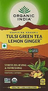 Organic India Tulsi Green - 25 Tea Bags (Lemon Ginger)