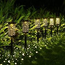 Solarleuchte Garten Außen,OxyLED 6 Stück Solar Gartenleuchte IP65 Wasserdicht Solarlampe mit Erdspieß Kunststoff für Garte...