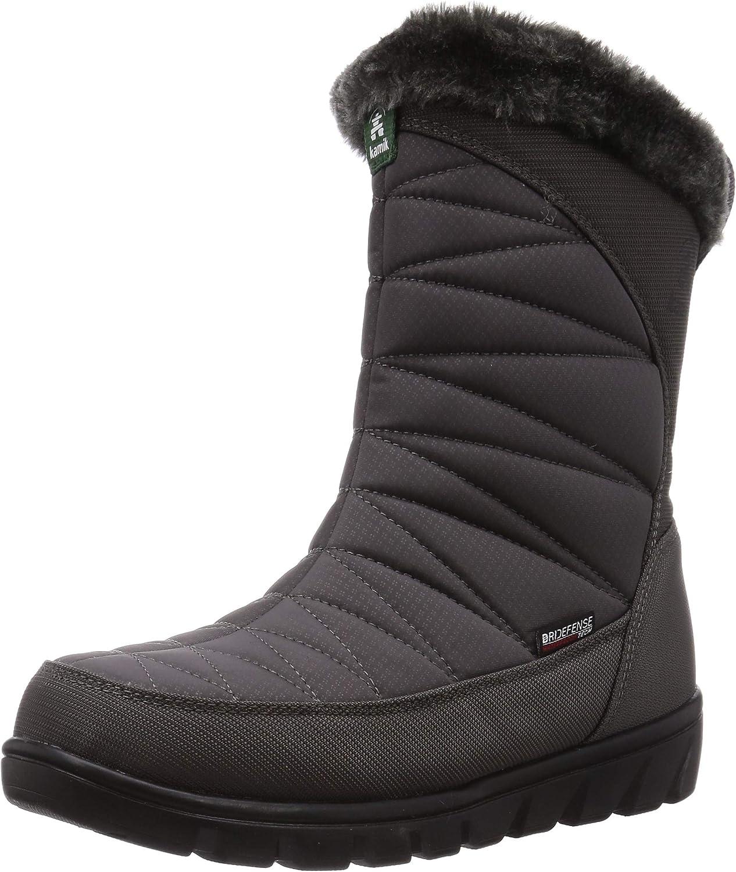 Kamik Womens Hannah Zip Winter Boot, Charcoal, Size 6