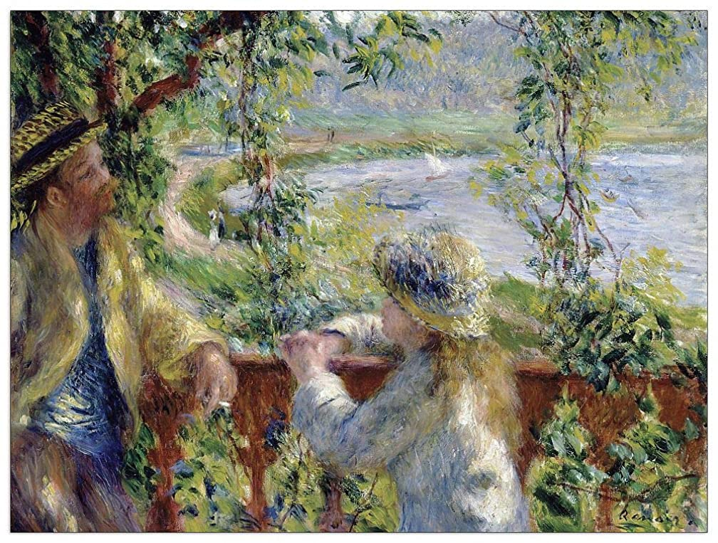 ArtPlaza TW92784 Renoir Pierre-Auguste - by The Water Decorative Panel 35.5x27.5 Inch Multicolored