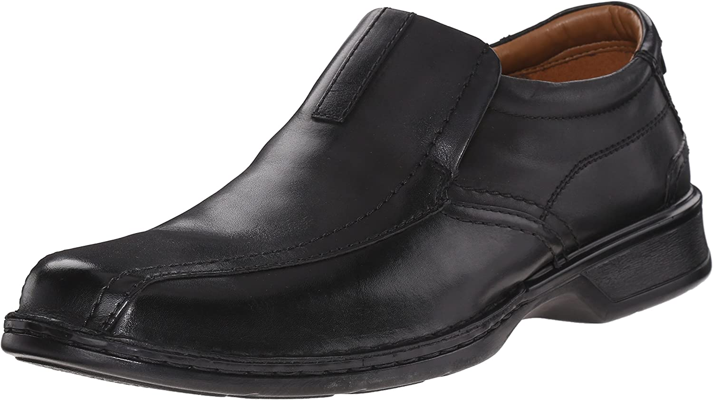 Clarks Uomo Escalade Step Slip-on Loafer- Nero 10.5 2E US
