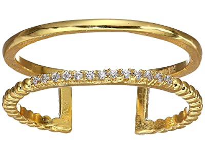 SHASHI Jade Pave Ring (Gold) Ring