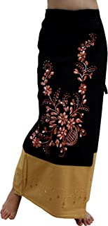 Cotton Thailand Formal Cotton Wrap Skirt Embroidered Art