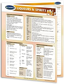Liqueurs & Spirits Guide - Food and Drink Quick Reference Guide by Permacharts