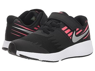 Nike Kids Star Runner (Little Kid) (Black/Metallic Silver/Racer Pink/Volt) Girls Shoes