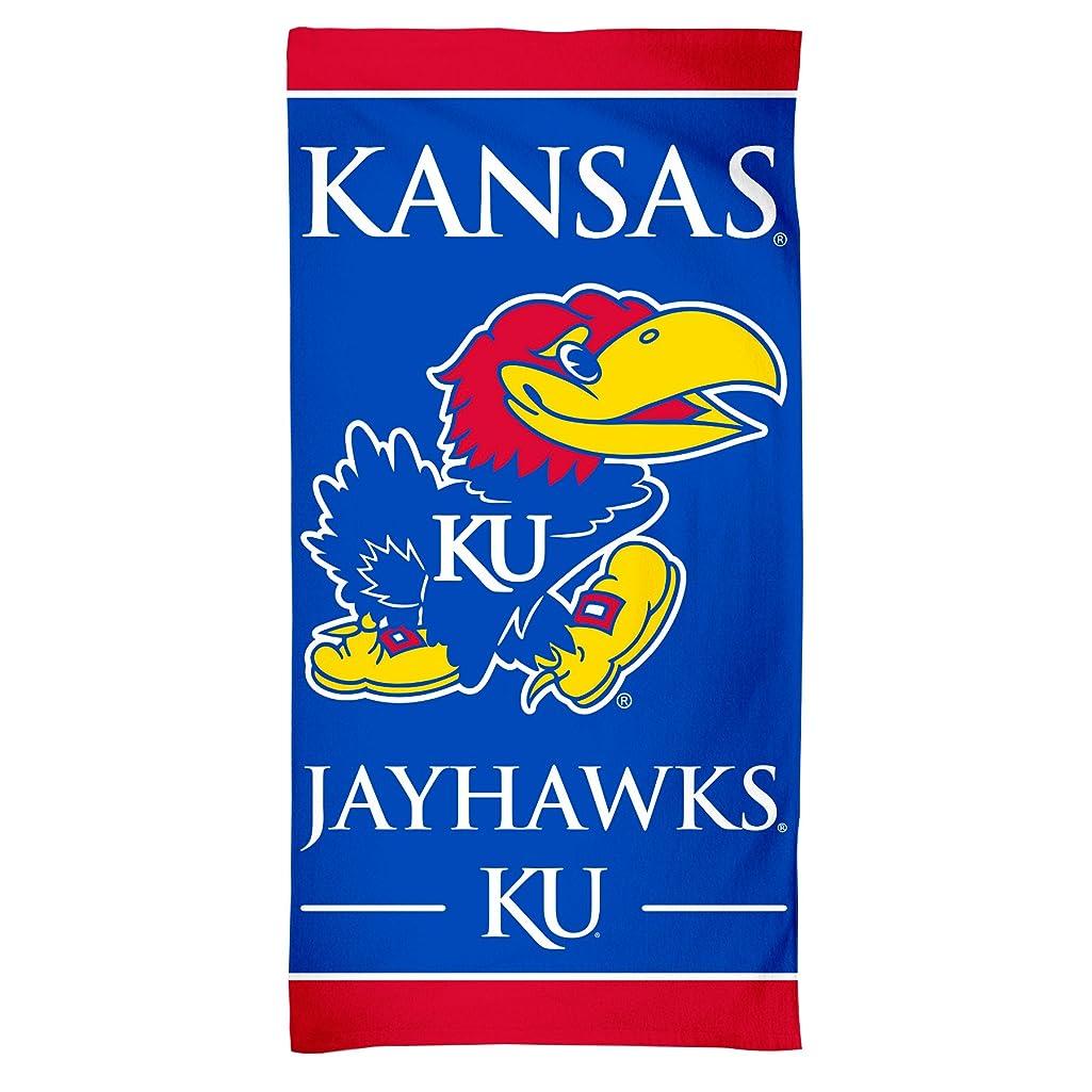 添加試み学部長NCAA Kansas Jayhawksファイバービーチタオル、30?x 60-inch