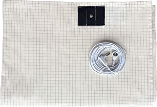 Grounding Sheet 10% Silver with Grounding Cord Native Cotton for Better Sleep Healthy (27x 52 Inch)
