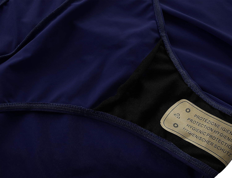 Septangle Women's Mid Waist Swim Skirt Tummy Control Swimwear Bikini Bottom