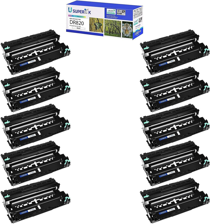 USUPERINK Compatible Drum Unit Replacement for Brother DR820 DR-820 to use with MFC-L5850DW MFC-L5700DW HL-L5200DW MFC-L5900DWHL-L6200DW Printer (Black, 10 Pack)
