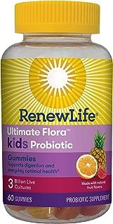 Renew Life Kids Probiotic - Ultimate Flora Kids Probiotic Gummies Probiotic Supplement- Dairy & Soy Free - 3 Billion CFU -...