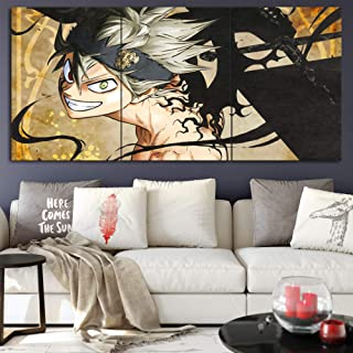 Black Clover A Canvas Posters Home Decor Wall Art Framework 3 Pieces Paintings for Living Room HD Prints Anime Pictures