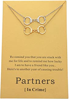 Daycindy Best Friend Necklace Infinity Love Handcuff Bracelet or Necklace for Women
