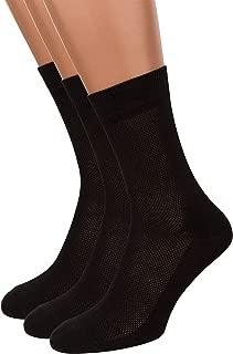 Summer Dress Socks for Men, 3 packs Thin Breathable Crew Black Socks, AIR SOCKS
