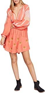 Free People | Wild Horses Embroidered Mini Dress | Persimmon