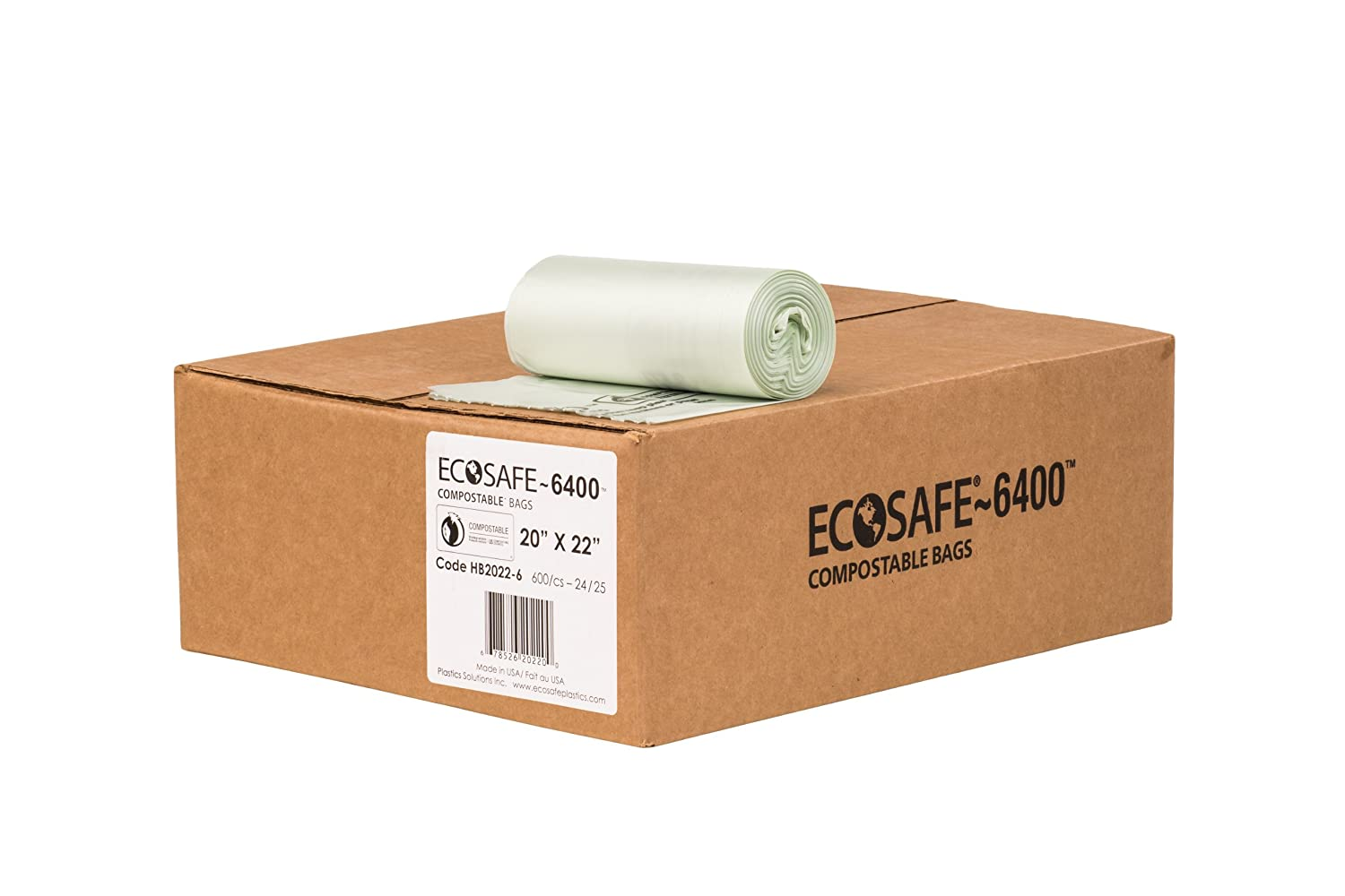 EcoSafe-6400 Department store HB2022-6 Compostable Max 70% OFF 7- Bag Certified