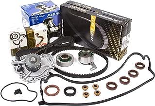 Evergreen TBK244MVCA Fits 94-02 Honda Accord Acura Odyssey Isuzu Oasis 2.2 2.3 SOHC F22B1 F23A1 F23A4 F23A5 F23A7 Timing Belt Kit Valve Cover Gasket AISIN Water Pump