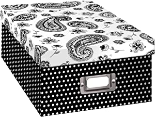 Pioneer Photo Albums B-1BW Photo Storage Box, Paisley Design