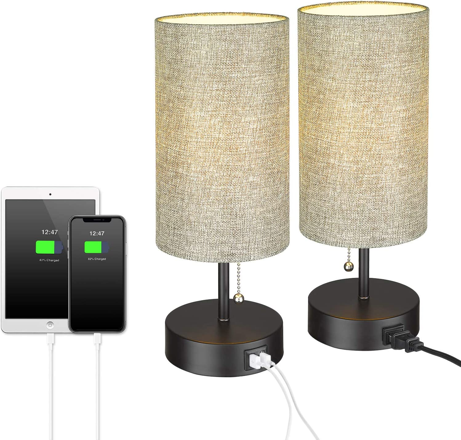 USB Bedside Table Lamps Set Nightstand 2 NEW of Challenge the lowest price of Japan Modern ELYONA