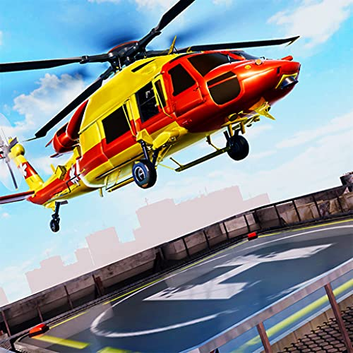 City Helicopter 3D Rescue Parking Simulator Game Flight Pilot Transport Citizen In Air Ambulance Survival Mission
