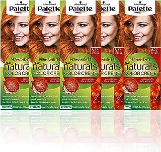 Palette Naturals - Coloración Permanente Tono 8.77 Cobrizo Intenso, 550 gr (Pack de 5)