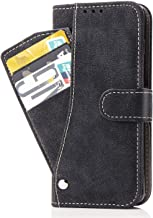 Moto X4 Case,Phone Cases Wallet Leather with Credit Card Holder Slim Kickstand Stand Feature Flip Folio Protective Cover for Motorola Moto X4 Women Girls Men for Moto X4 Black