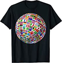 International World Flags T-shirt Flags World Map Tshirt