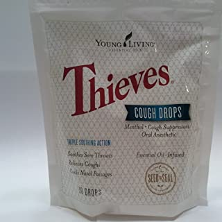 Thieves Cough Drops 30 Ct Essential Oil Infused by Young Living Essential Oil