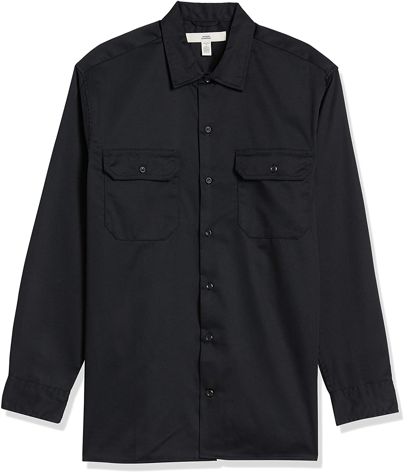 Amazon Essentials Men's Long-Sleeve Stain and Wrinkle-Resistant Work Shirt