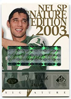 2003 Upper Deck SP Signature Edition JOE NAMATH Green Ink Auto #JN Rare Signed Card Serial Numbered #39/50 HOF Autographed New York Jets 1985 Hall of Fame Member