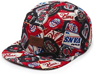 Vans Off The Wall Davis 5 Panel Strapback Hat Cap-Beer Belly-One Size
