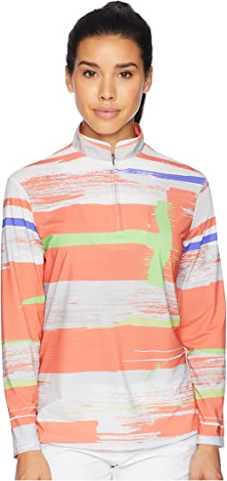 Jamie Sadock Sunsense® Lightweight Artisan Print 1/4 Zip Long Sleeve Top with 50 SPF